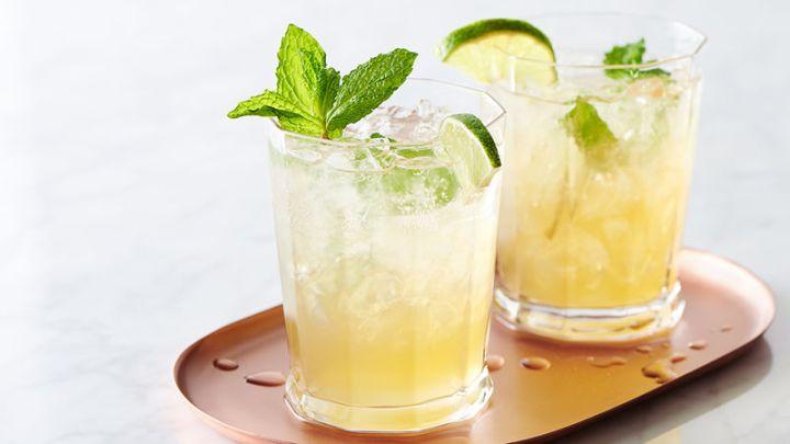 Sparkling Lime Mint Tea