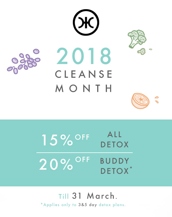 Cleanse Month 15% off
