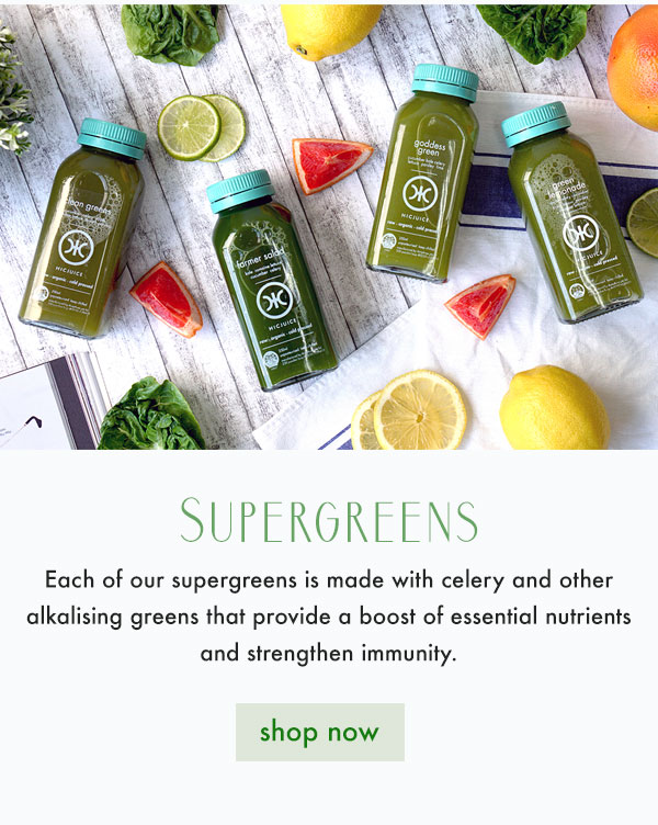 Supergreens made with alkalising greens